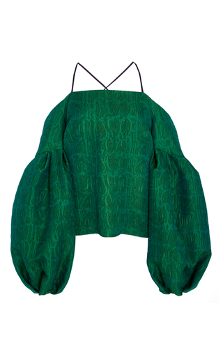 Medium hellessy green emerald off the shoulder blouse