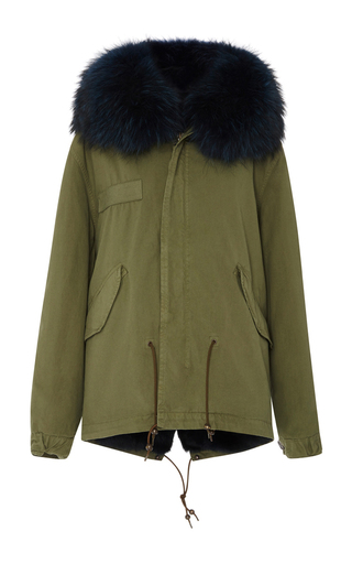 Medium mr mrs italy green mini canvas lapin and murmasky parka