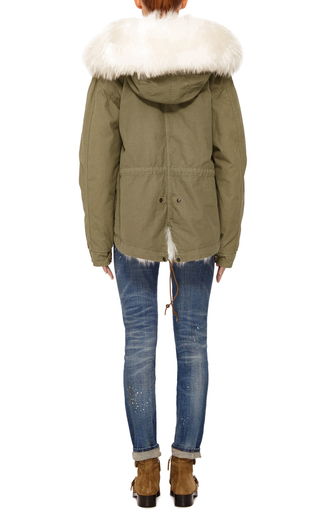 Mini Canvas Fox Patch And Murmasky Parka by MR & MRS ITALY Now Available on Moda Operandi
