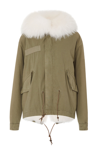 Medium mr mrs italy white mini canvas fox patch and murmasky parka