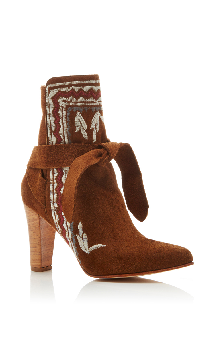 clearance new Ulla Johnson Aggie Embroidered Ankle Boots cheap sale cheapest price finishline cheap online clearance Manchester YHP1DBjK