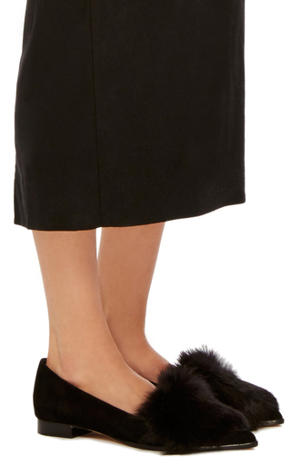 Johan Fur Flats by ALEXANDRE BIRMAN Now Available on Moda Operandi