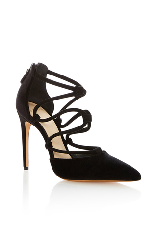Medium alexandre birman black maya suede pump