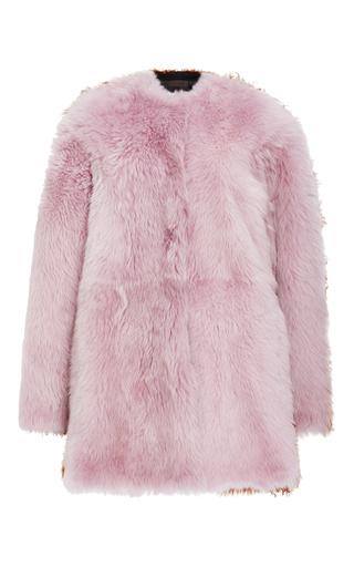 Medium jo no fui pink bi color kalgan and shearling overcoat