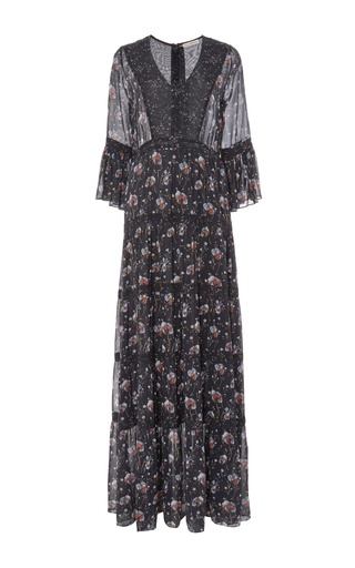 Medium ulla johnson floral aurora patchwork french floral dress