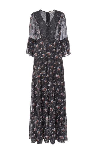 Medium ulla johnson floral aurora patchwork french floral dress