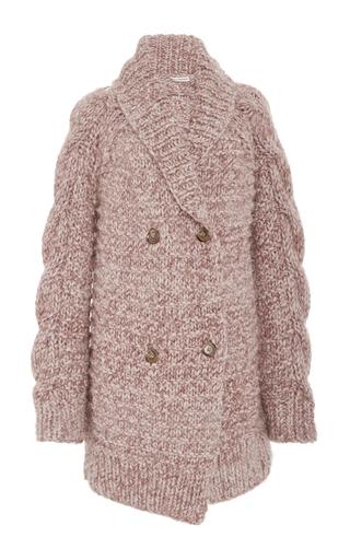 Medium ulla johnson light pink aiko cable handknits cardigan