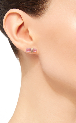 Pink Tourmaline Single Stud Earring by JACQUIE AICHE Now Available on Moda Operandi