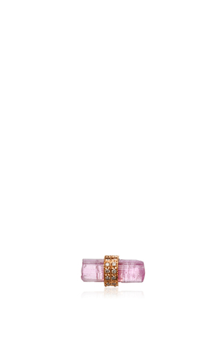 Medium jacquie aiche pink pink tourmaline single stud earring