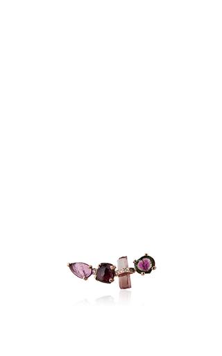 Medium jacquie aiche pink tourmaline ear jacket