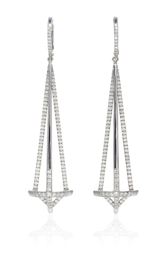 Medium susan foster silver diamond dagger earrings