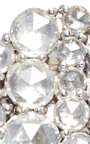 Rose Cut Diamond Cluster Earrings by SUSAN FOSTER Now Available on Moda Operandi