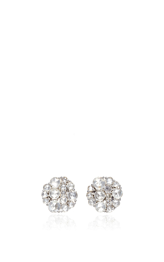 Medium susan foster silver rose cut diamond cluster earrings