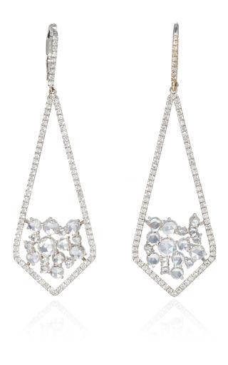 Medium susan foster silver rose cut dagger earrings