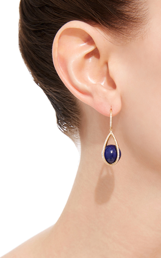 Lapis Cage Earrings by SUSAN FOSTER Now Available on Moda Operandi