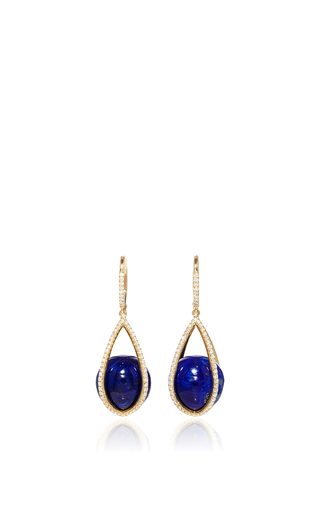 Medium susan foster royal blue lapis cage earrings