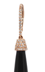 Rose Gold Onyx Drop Earrings by SUSAN FOSTER Now Available on Moda Operandi