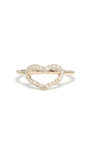 Diamond Pavé Heart Ring  by JORDAN ASKILL Now Available on Moda Operandi