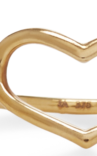 Yellow Gold Delicate Heart Ring by JORDAN ASKILL Now Available on Moda Operandi