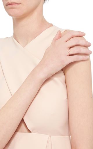 Rose Gold Delicate Heart Ring by JORDAN ASKILL Now Available on Moda Operandi
