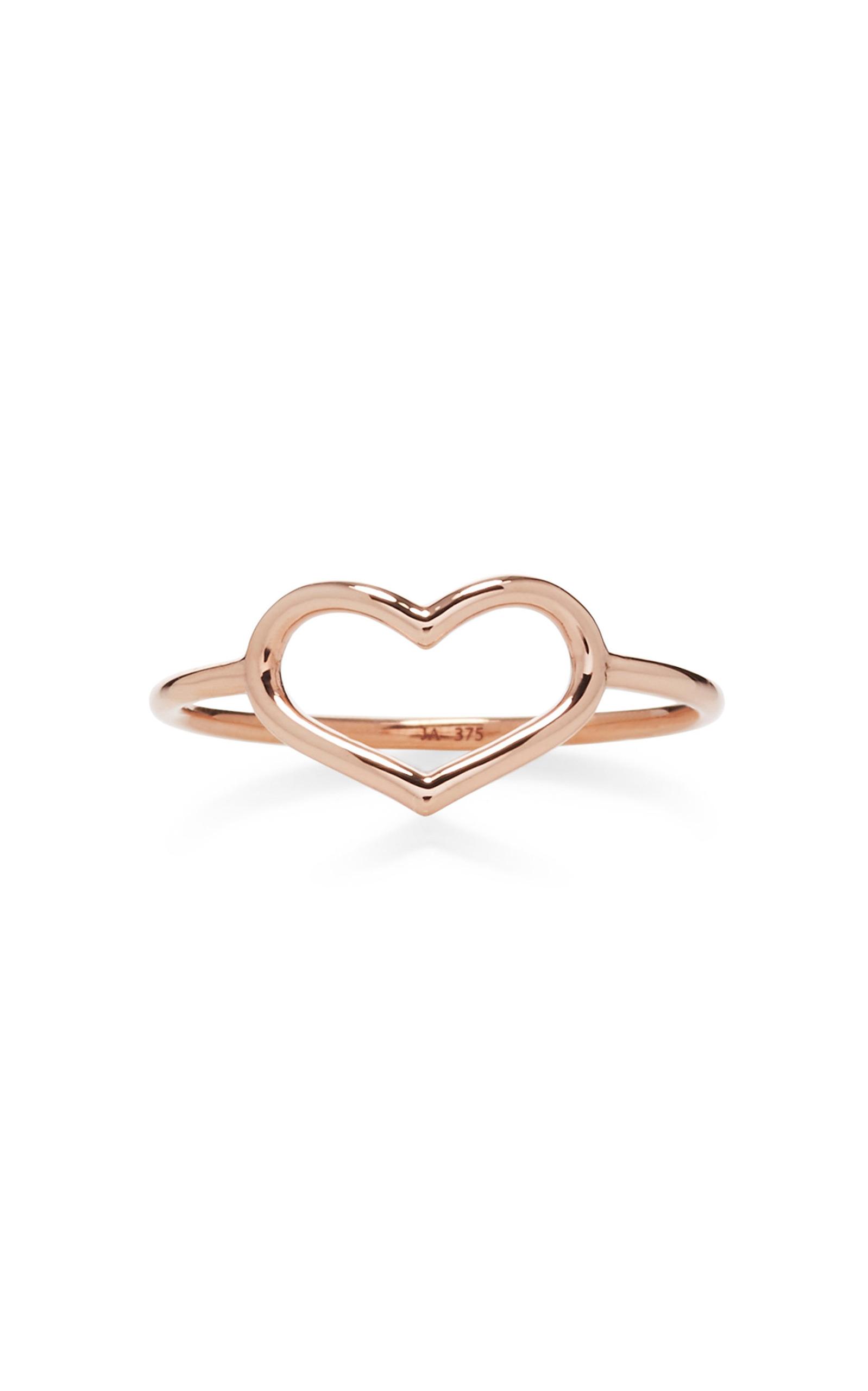 Rose Gold Delicate Heart Ring by Jordan Askill | Moda Operandi