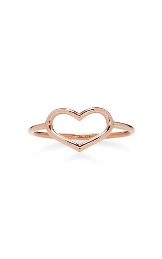 Medium jordan askill pink rose gold delicate heart ring