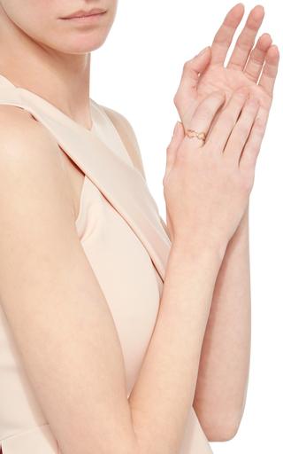 Yellow Gold Triple Heart Ring by JORDAN ASKILL Now Available on Moda Operandi