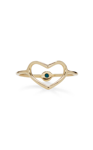 Hidden Turquoise Heart Ring  by JORDAN ASKILL Now Available on Moda Operandi