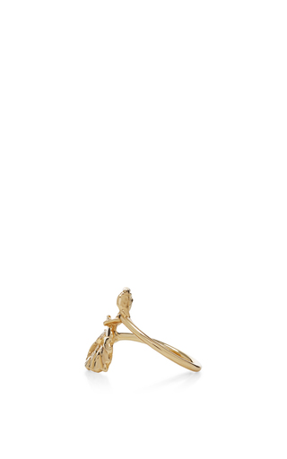 Double Leaf Diamond Ring by JORDAN ASKILL Now Available on Moda Operandi