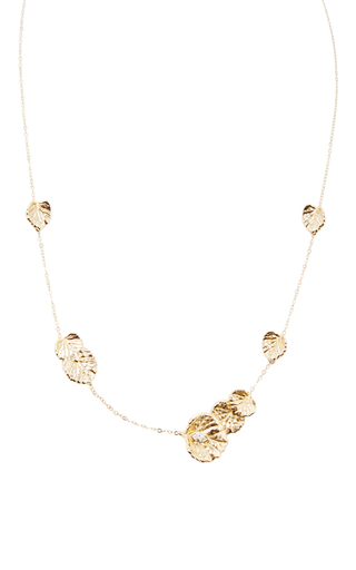 Medium jordan askill gold leaf necklace
