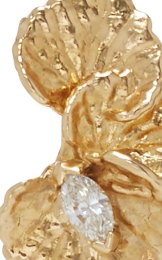 Leaf Diamond Earrings by JORDAN ASKILL Now Available on Moda Operandi
