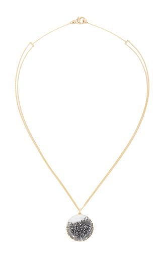Medium renee lewis black black diamond shake pendant