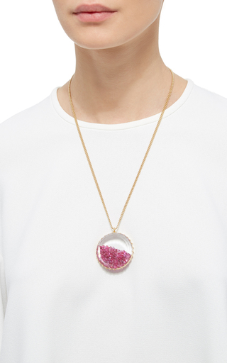 Ruby Shake Pendant by RENEE LEWIS Now Available on Moda Operandi
