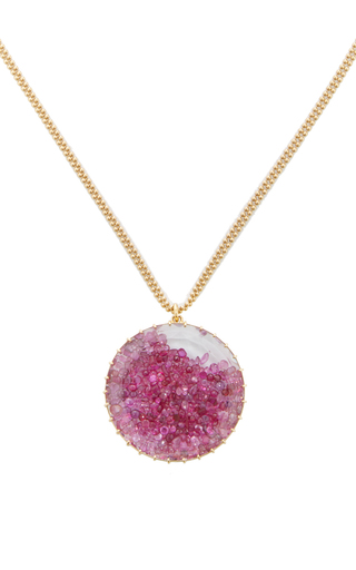 Medium renee lewis pink ruby shake pendant