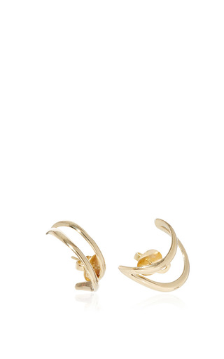 Simplicity Yellow Gold Earrings by ANA KHOURI Now Available on Moda Operandi