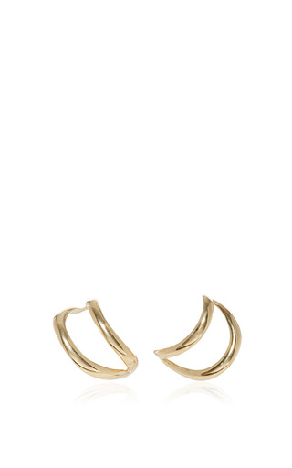 Medium ana khouri gold simplicity yellow gold earrings