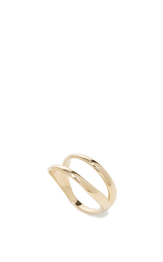 Simplicity Yellow Gold Ring by ANA KHOURI Now Available on Moda Operandi