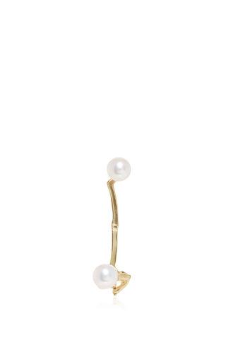 Time White Pearl Ear Cuff by ANA KHOURI Now Available on Moda Operandi