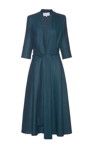 Medium luisa beccaria blue belted kimono dress