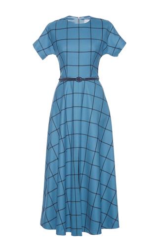 Medium luisa beccaria blue checkered a line dress