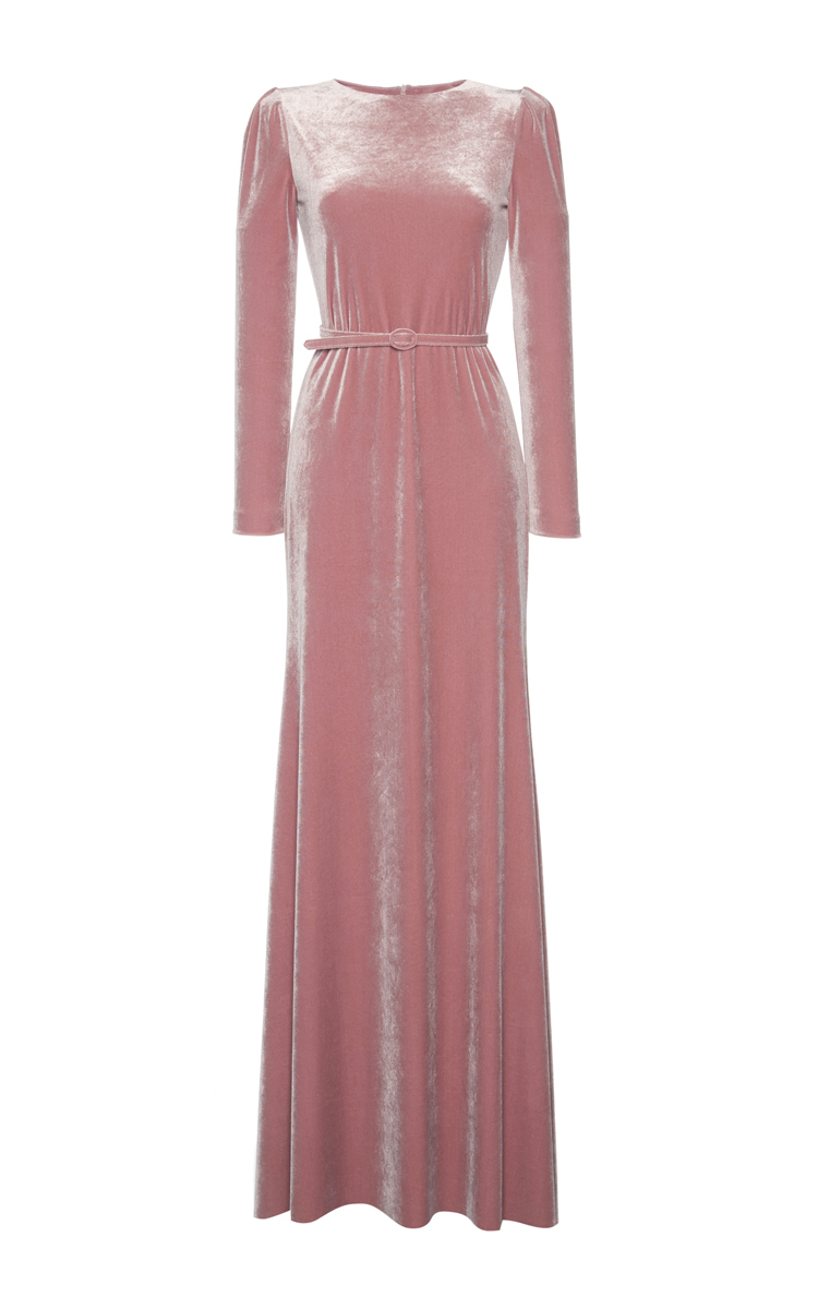Velvet Maxi Dress by Luisa Beccaria | Moda Operandi