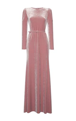 Medium luisa beccaria pink velvet maxi dress