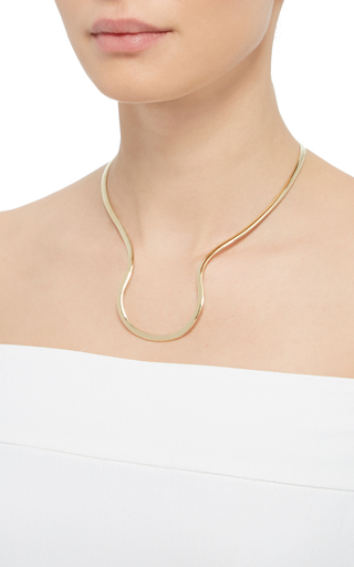 Simplicity Yellow Gold Necklace by ANA KHOURI Now Available on Moda Operandi