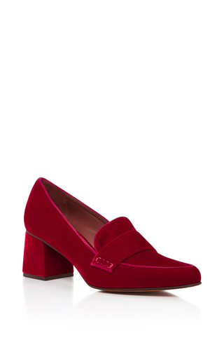 Medium tabitha simmons red red velvet margot pump 2