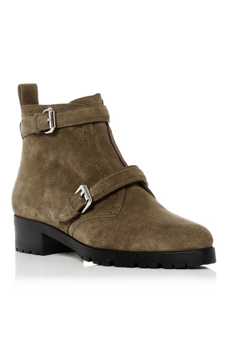 Medium tabitha simmons green suede aggy boots