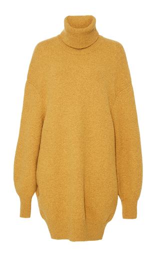 Medium adam lippes gold comfort cashmere turtleneck pullover