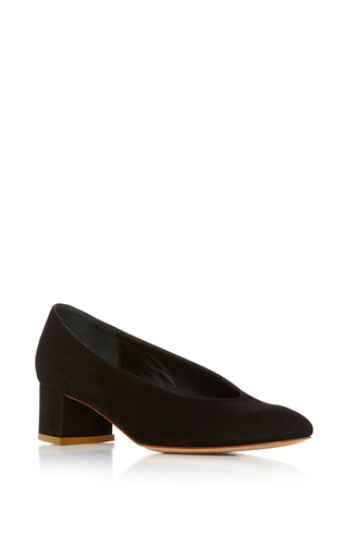Medium mansur gavriel black ballerina pump