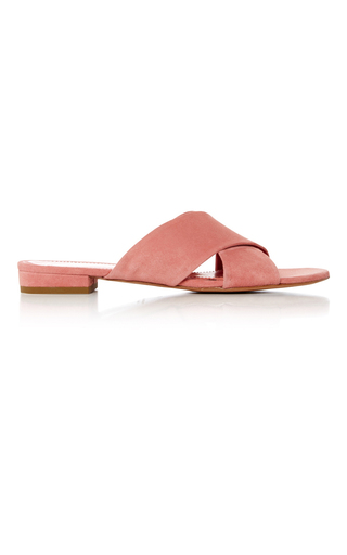 Medium mansur gavriel pink cross strap sandals