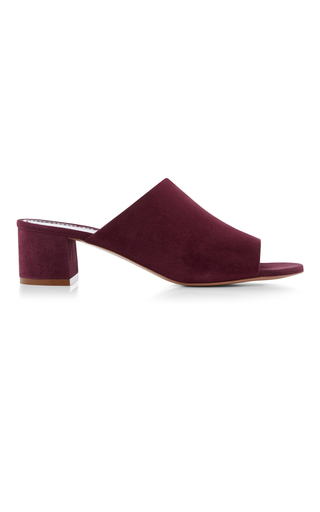 Medium mansur gavriel purple suede mule
