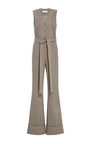 Herringbone Flared Jumpsuit by CO Now Available on Moda Operandi